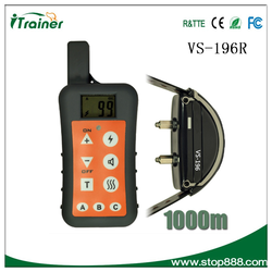 VS-196R electric shock rechargeable and waterproof bark collar dog pet training supplier