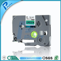 For p-touch printer cheap tz tapes black/green 12mmX8m tz731 tz-731 tze label tapes made in CHINA