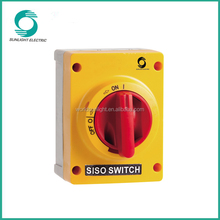 Lockable IP66 waterproof DC and AC isolating disconnect switch