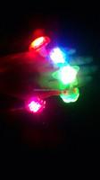 Finger ring flashing LED light beatiful design finger ring