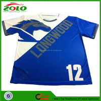 New Design High Quality Custom Made Dye Sublimated Lacrosse T Shirt