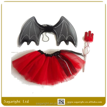 2015 New Design fashion fairy costume dress fashion design small girls dress / Batman Fairy Wings