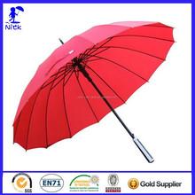 Hot Sale 25 Inch * 16K Multi Ribs Straight Golf Umbrella