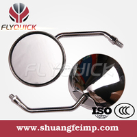 ZF001-133 FLYQUICK motorcycle motorbike racing bike side mirror chrome mirror for GTI mirror