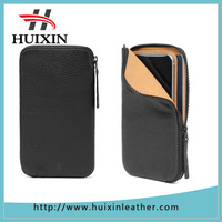 Leather zip wallet for Phone case phone case leather wallet purse