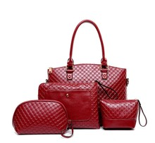 4 pcs set bag Designer lady handbagwith good leather factory price