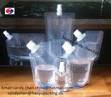 Qingdao Haoyu Packing 2014 new product food grade spout lock bags baby food plastic packaging for wine plastic bag