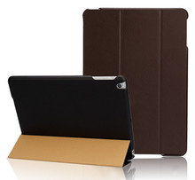 Solid Color For iPad air 2 Case High Quality PU Leather Smart Cover Triple Folding Stand Leather Skin For iPad Air Case