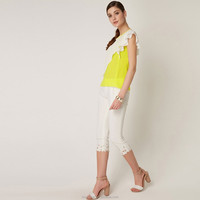 2015 white tight casual half pants for women