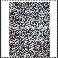Luggage use news print fabric with Leopard pattern