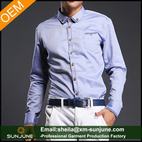 Modern style 100 cotton mens long sleeve casual shirts