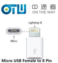 HOT Micro USB Female to 8Pin V8 Male ios Adapter Convertor for iPhone 6 5 5c 5s iPad 4 Air Mini iPod