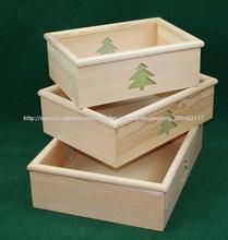 Casa de campo francés personalizado decorativa caja de madera vieja