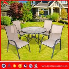 5 unids muebles de jardín de Metal conjunto