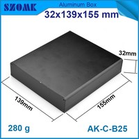 2015 hot sales anodizing aluminium extrusion enclosure for electronic 32X139X155mm