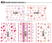 2015 new arrival follower rose pink cute girl stamp bow tie monkey sheep design nail art sticker