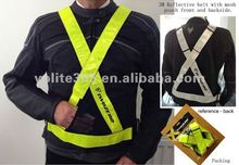 3M reflective belt,CE EN13356 approved reflective belt with mesh pouch