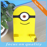 New Zealand 3D cute soft pvc yellow rubber cell phone holder customized