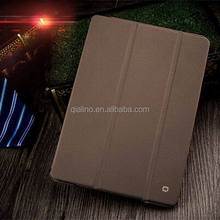 2015 QIALINO top grade quality cover with tripod stand leather case For iPad mini