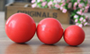 Wholesale Red Dog Rubber Training Ball Pet Toy Ball PT026