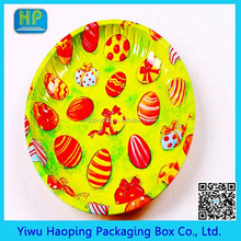 YiWu Factory Direct Sale Metal Christmas Gift Tin Tray/Fruit Serving Iron Plate Hotsale