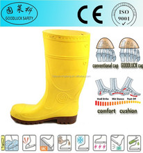 Fabric Lining Gumboots Light PVC Boots Half Shoes