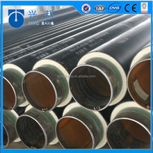 High quality insulated tube with polyurethane foam filled and iron sleeve for Brazil hot water supply