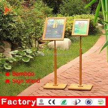 hotel advertising supermarket show sign stand sign board stand for book store