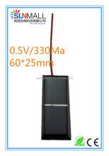 0.5V 330Ma Mini Custom Shaped Solar Panel with Wire