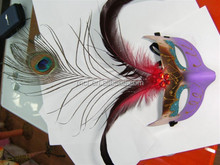 Party beautiful carnival feather masquerade masks MSK190