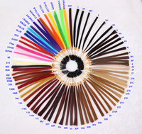Chinese remy human hair color ring/colour chart
