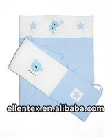 100% Cotton Cover Embroidery baby cot bumper set