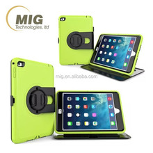 Plastic and silicone 3 in 1 style Rotating Stand Case For apple iPad Mini, for ipad mini 1 2 3 4 case
