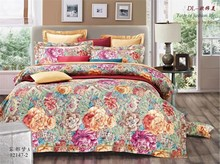 embroidery 3d bedding 100% cotton wedding bed cover set luxury european silk jacquard comforter sets on sale