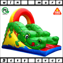 18' tall inflatable cartoon croc slide,small indoor inflatable slide,china inflatable slide