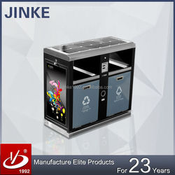 2015 Innovative Classified Rubbish Can, Advertising Recycle Dustbin Wth Solar Energy