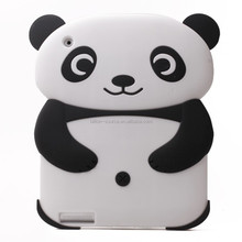 2015 Lovely Cartoon Soft Silicone Panda Case Cover for iPad 2/3/4 Kids Xmas Gifts