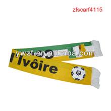 Cete d'ivoire equipo de fútbol africano logotipo bufanda fans