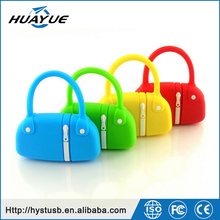 PVC Hand Bag USB Flash Drive With Logo