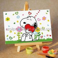 best christmas decoration digit oil painting for gift use