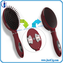 2015 new style fashion color ceramic ionic plastic round JMS A plastic foldable hairbrush for salon use