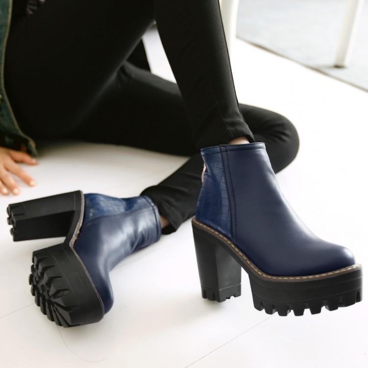 Platform Chunky Heel Booties