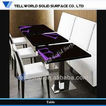 2013 Standard design Solid Surface Restaurant table set for KFC, Starbuck, Buffet,Mcdonald's