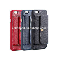 Genuine leather wallet case for iphone 6