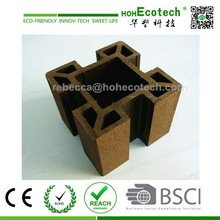 Natural wood feel WPC composite Post for Fence/Pergola/Garden Decoration