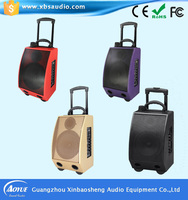 Special Hole Design Wireless System 8'' Portable Amplifier Speaker Loudspeaker Microphone with USD/SD Jack