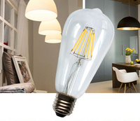 """""""E27 Edison Carbon Filament Bulbs 60w St64edison Bulbs With Great Quality4w,6w,8w Clear/frosted Bulb"""