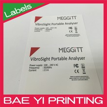 Product Specification and Spec information product Polypropylene Labels