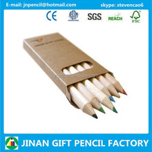 3.5 Inch Hexagonal Nature Wood Colored Lead Pencil Office Supplier Manufacturer