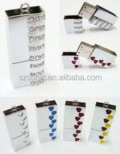 various kind of beautiful crystal usb flash drive for wedding gift